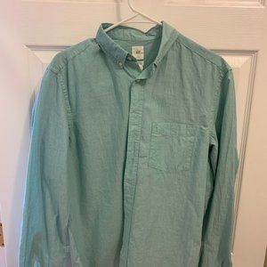 H&M Mens Button Down Teal Size M